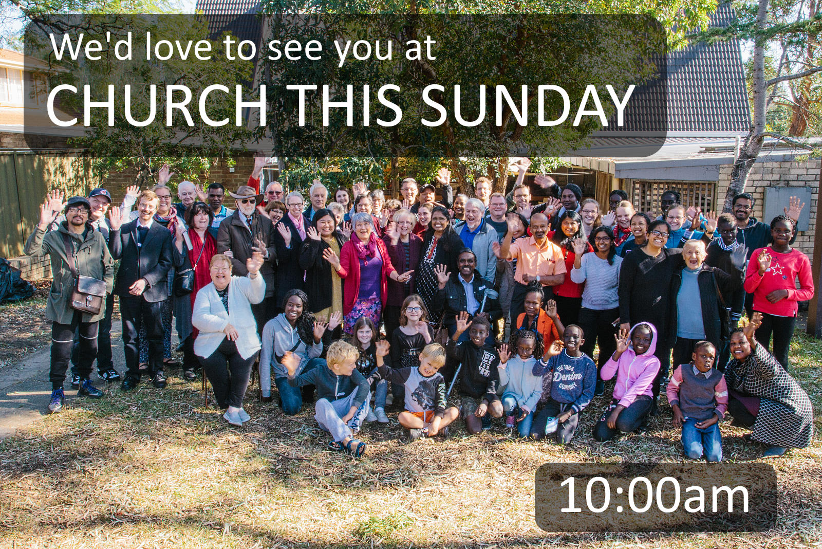 We'd love to see you at church this Sunday. 8am, 10am, 6pm.